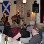 Det skotske flag er hængt op i aftenens anledning