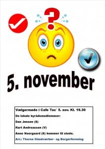 Vælgermøde 2013 Plakat